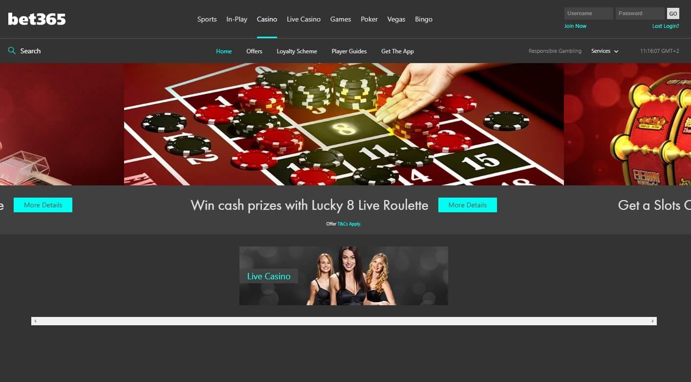 казино bet365 com